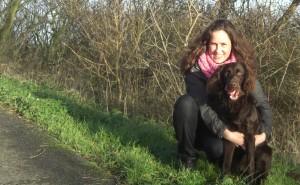 Laura met haar hond Nola